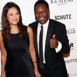 Pelé y Marcia Cibele Aoki