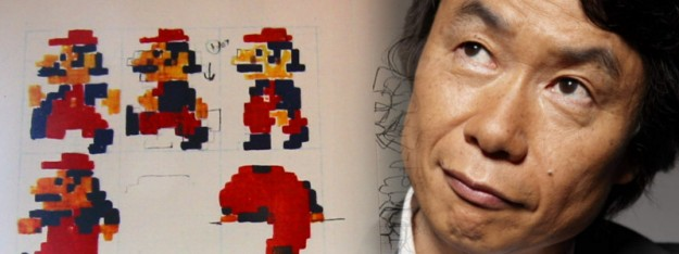 shigeru miyamoto mario drawings 625x234