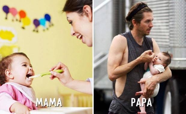 10 mama vs papa dando de comer