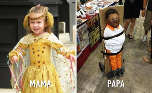 3 disfraces mama vs papa