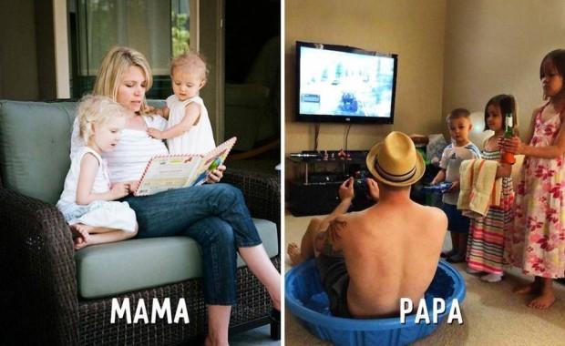 4 mama ensena a leer papa utiliza de mandaderitos