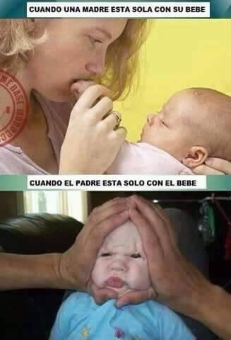 7 mama vs papa solos con el bebe