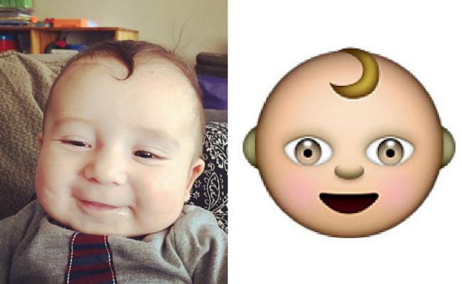 bebe con capul emoji