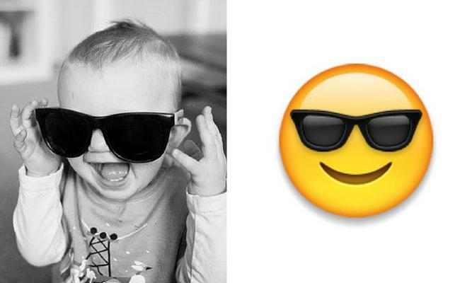 bebe con gafas emoji