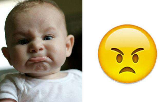 bebe de mal humor emoji