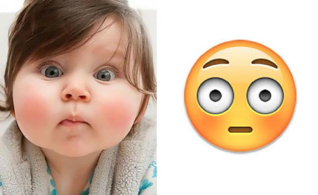bebe sorprendida emoji