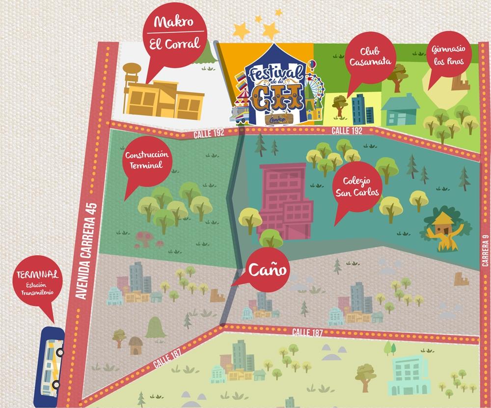 mapa festival de la ch