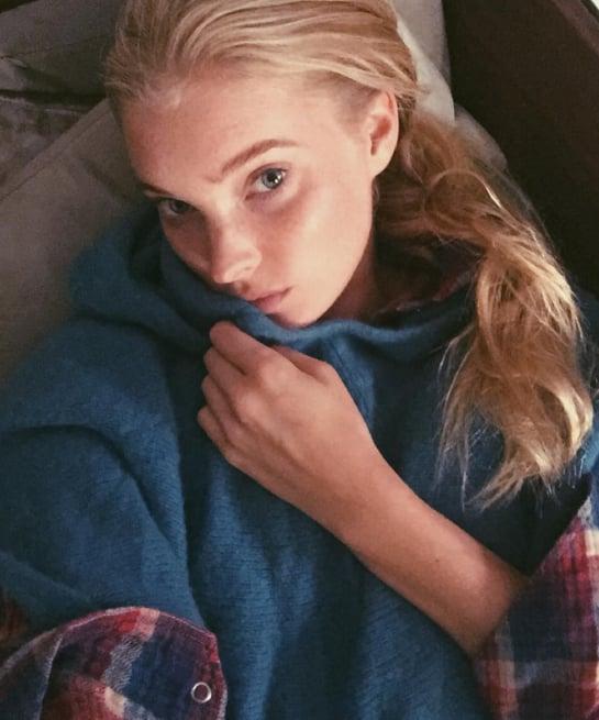 Elsa Hosk sin maquillaje y al natural