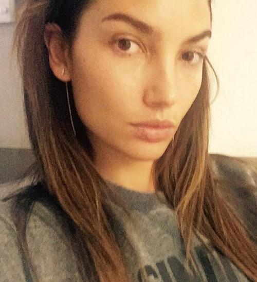 Lily Aldridge sin maquillaje y al natural
