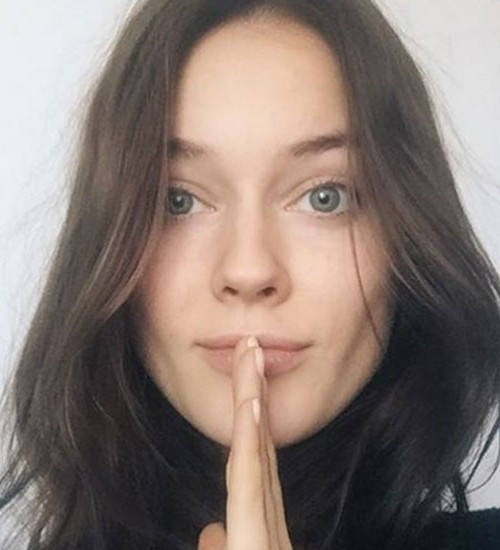 Jac Monika Jagaciak sin maquillaje y al natural