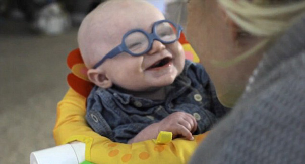 glasses baby sees mother first time smiles leopold wilbur reppond 3b