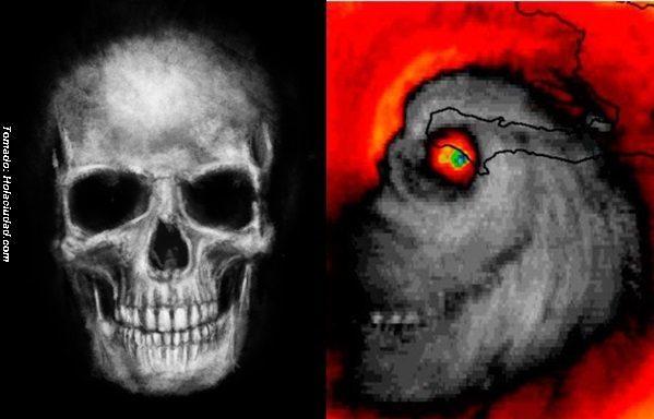 #Insólito: Huracán Matthew se convierte en Calavera