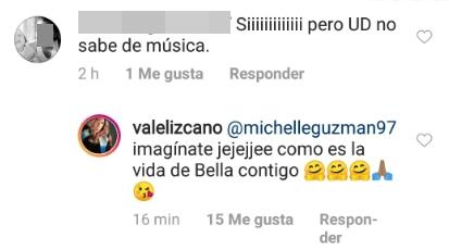 Print de pantalla del Instagram de Valentina Lizcano