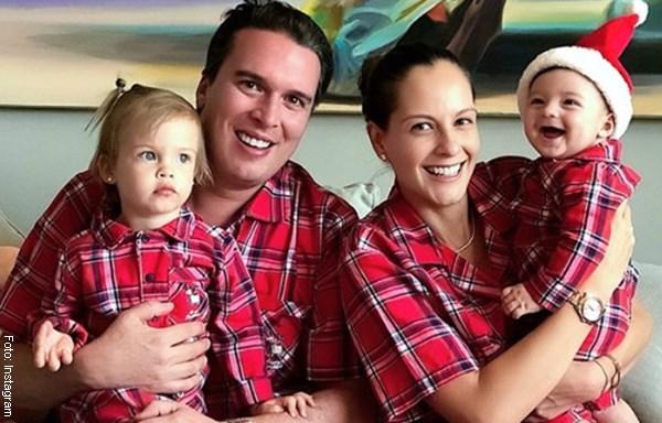Laura Acuña y Rodrigo Kling con sus hijos