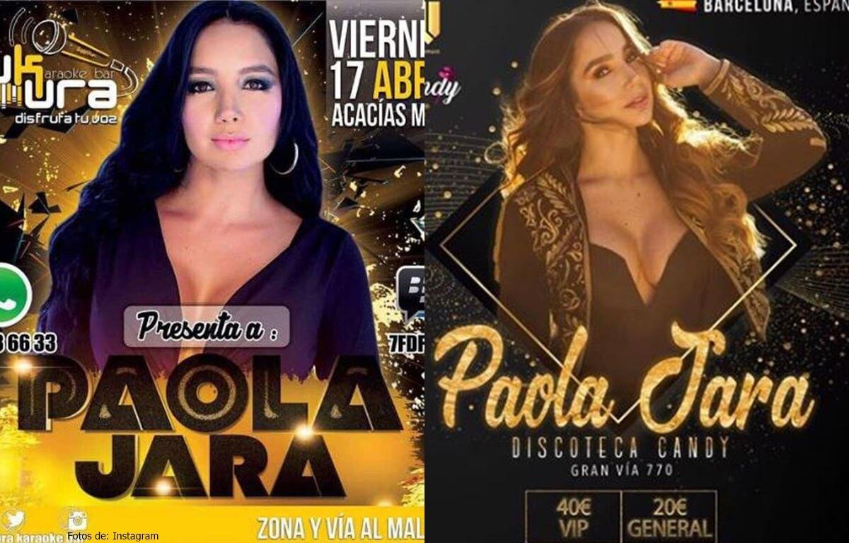 fotos de los posters de las presentaciones de Paola Jara