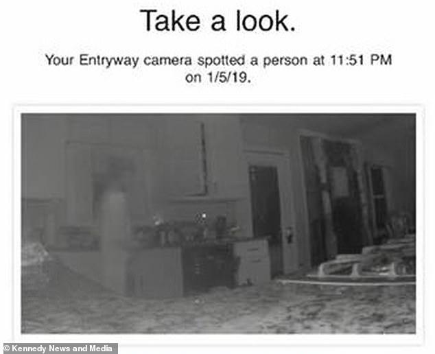 Imagen de fantasma captada por cámara de seguridad