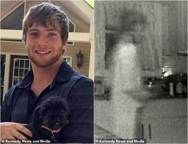 Imagen de fantasma captada por cámara de seguridad comparada con el fallecido al cual pertenecería el espíritu