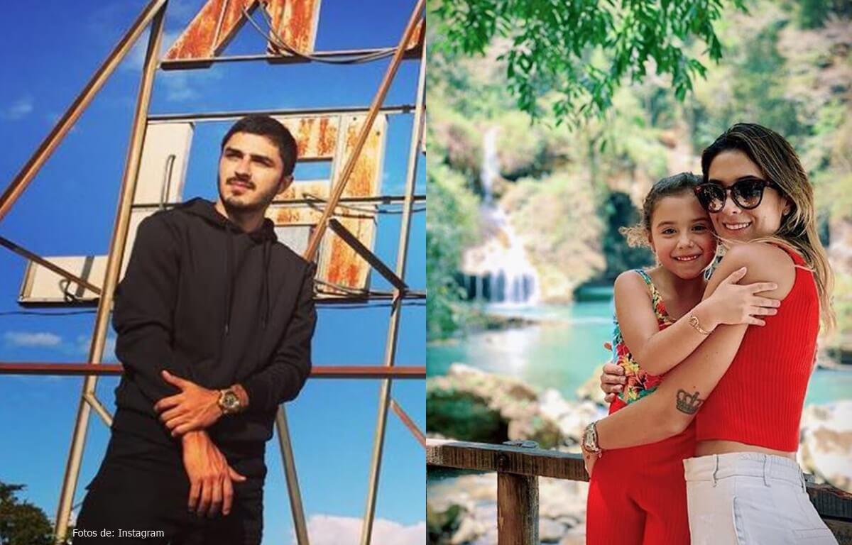 Foto de Daniela Ospina y su novio en compañía de Salomé