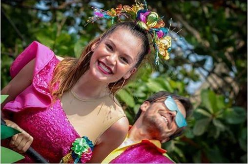 Foto de Lina Tejeiro en el Carnaval de Barranquilla