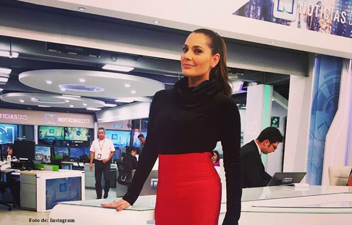 Jessica de la Peña lloró en la emisión de noticias RCN