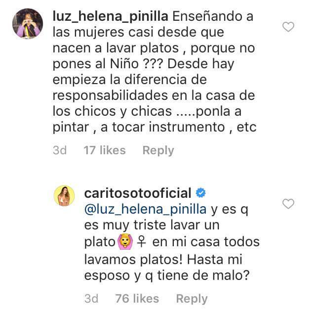 Respuesta de Carolina Soto a quien la critica