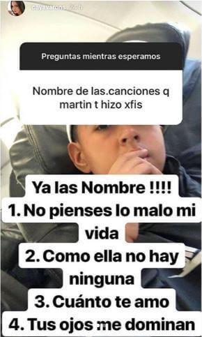 Dayana Jaimes respondió cuáles canciones le dedicó Martín Elías