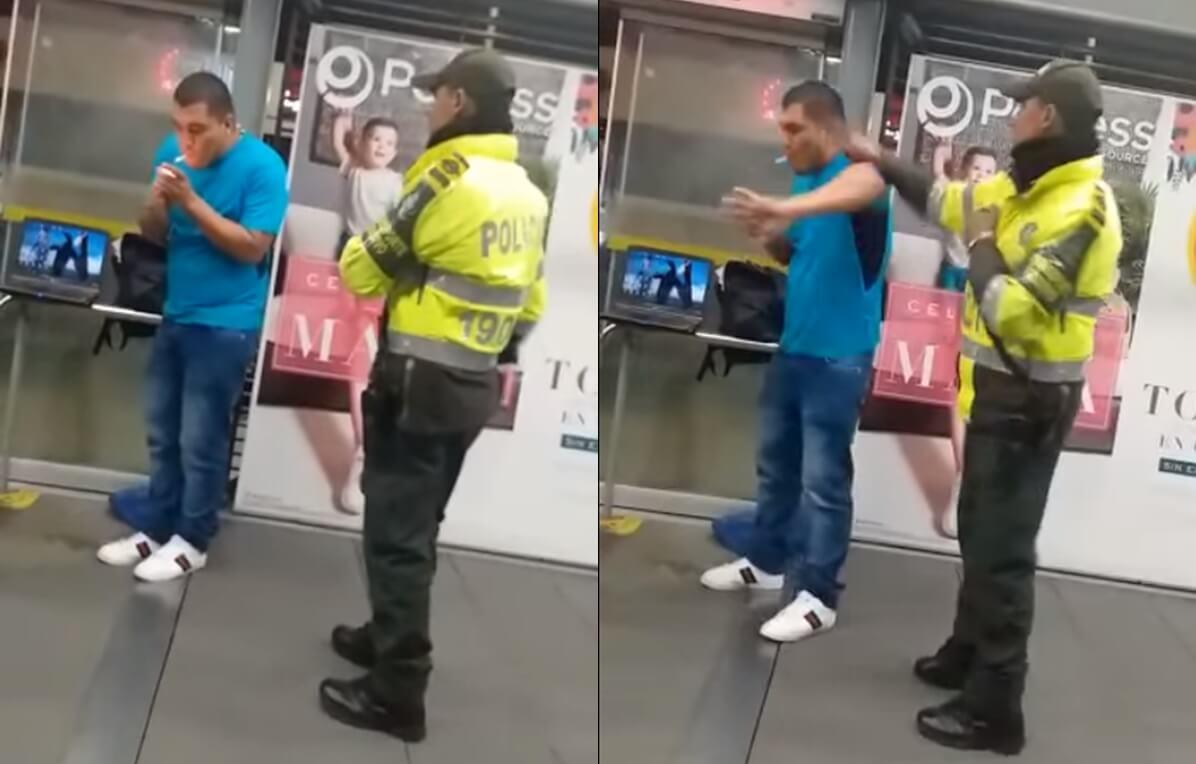 Policía golpeó a usuario de Transmilenio por un comportamiento indebido