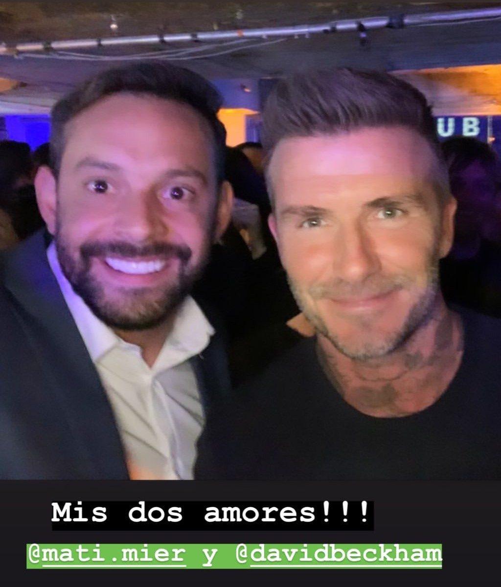 Matias Mier junto a David Beckham