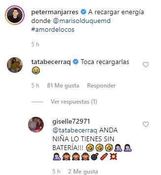 Posible reconciliación matrimonial entre Peter Manjarrés y la `Tata´ Becerra