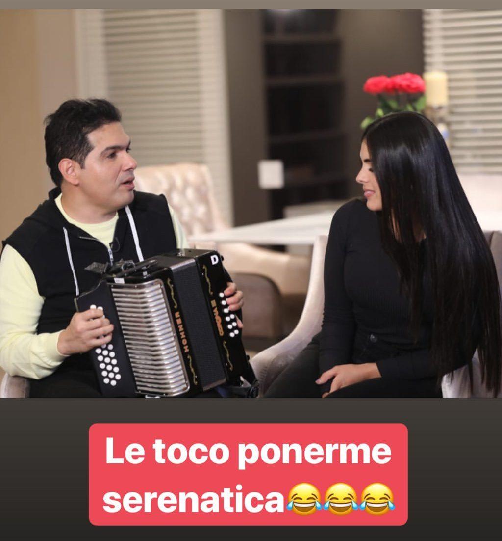 Peter Manjarrés le canta a la `Tata´ Becerra para disculparse por estar de coqueto