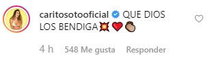comentario Carolina Soto