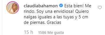 comentario Claudia Bahamón