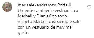 Críticaa a Marbelle y a Elianis por su ropa