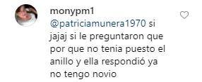 comentario de una seguidora de Yina Calderón
