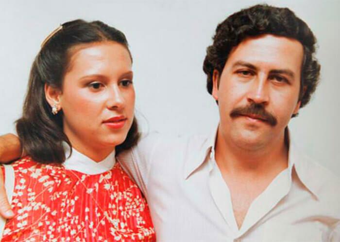 María Victoria Beltrán con Pablo Escobar