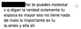 Comentario de la esposa de Jessi Uribe
