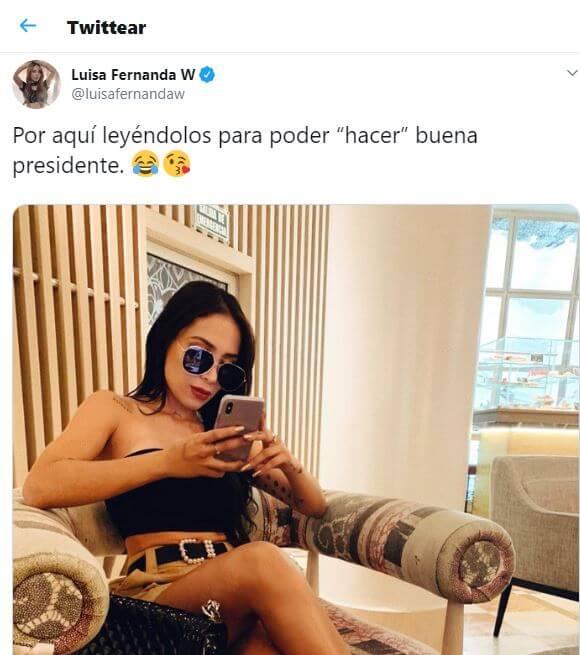 Tweet de Luisa Fernanda W