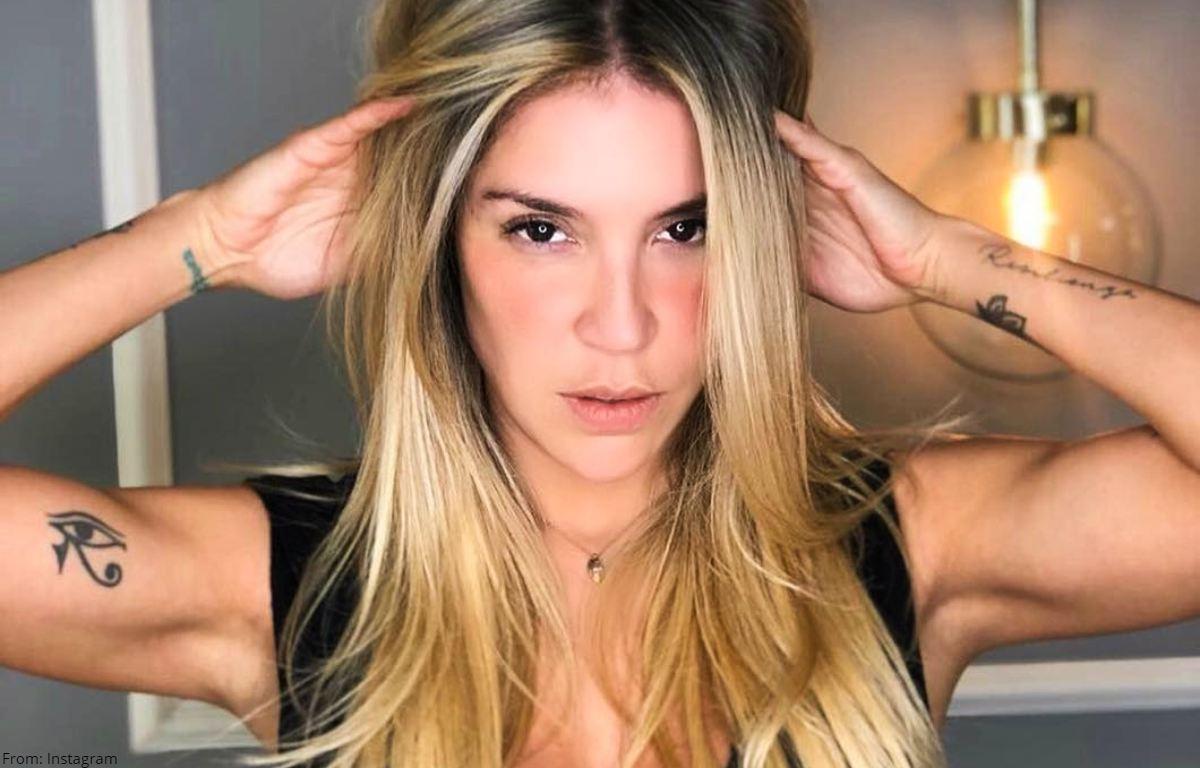 Valentina Lizcano posó con sugestivo body replicando censura