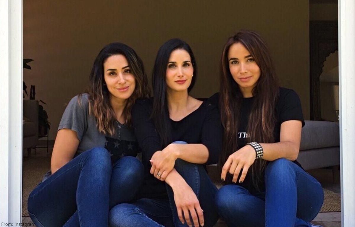 Majida Issa presumió a sus hermanas con candente fotografía