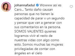 Comentario de Johanna Fadul