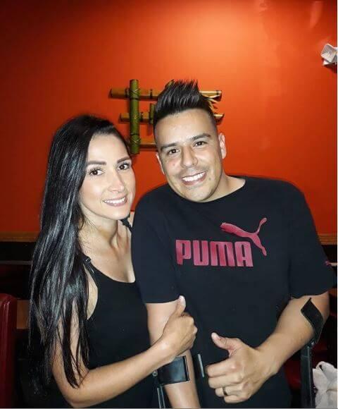 Foto de Mateito y su esposa
