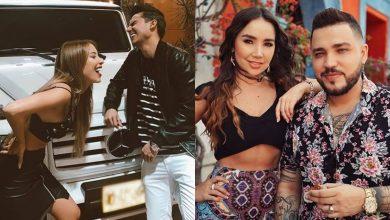 Foto de Jessi Uribe y Paola Jara con Pipe Bueno y su pareja