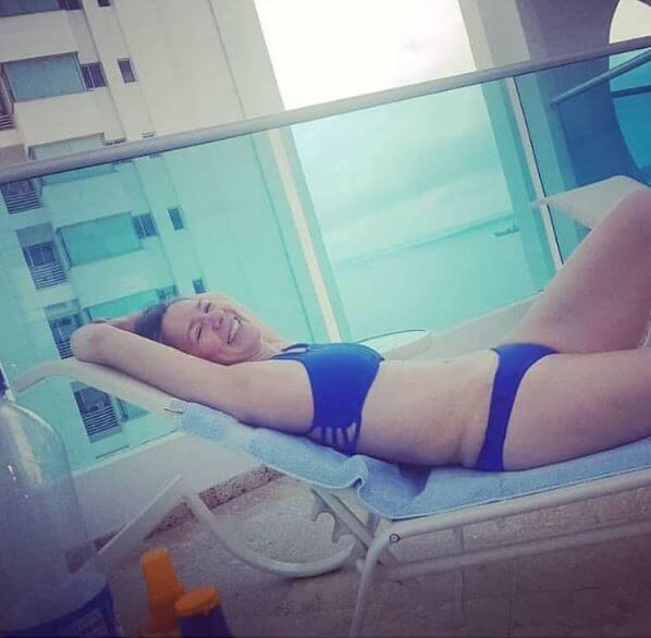 Foto de Haydée Ramírez en bikini