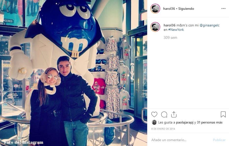 Novio de Daniela Ospina con Gina