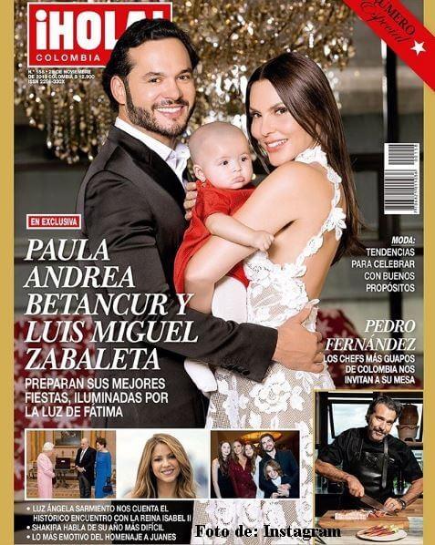 Paula Andrea Betancur con su esposo y Fátima