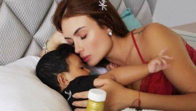 Sara Uribe experimentó con su hijo y logró divertido momento