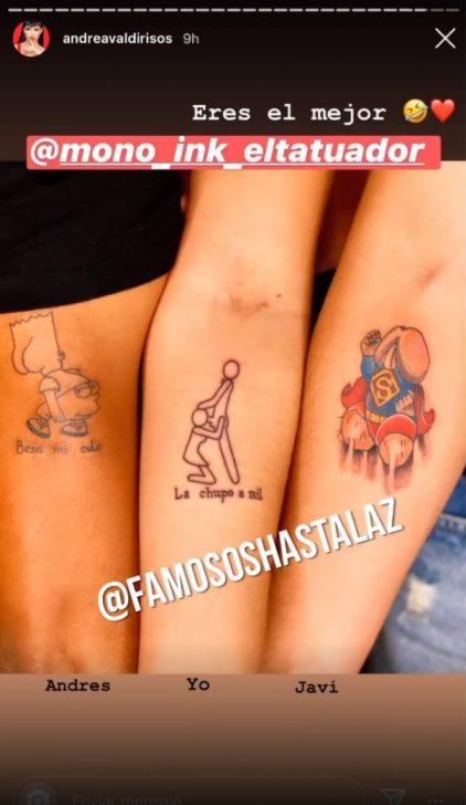 El polémico tatuaje de Andrea Valdiri que ha generado muchas críticas