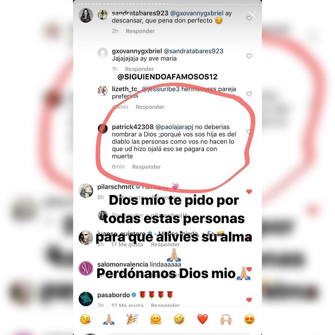 Paola Jara responde a comentario mal intencionado