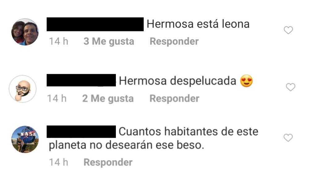 """Seguidores de Mónica Jaramillo la halagan por su look de """"leona"""", su cabello despelucado y por el beso que mandó"""