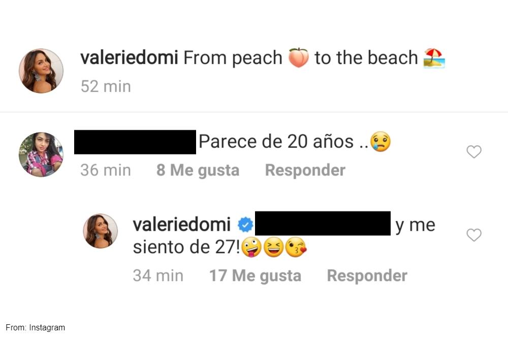 Seguidora de Valerie Domínguez la halaga por su aspecto físico joven